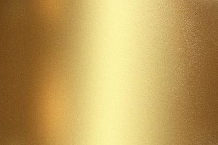 Glanzende gouden roestvrijstalen muur, abstracte textuurachtergrond