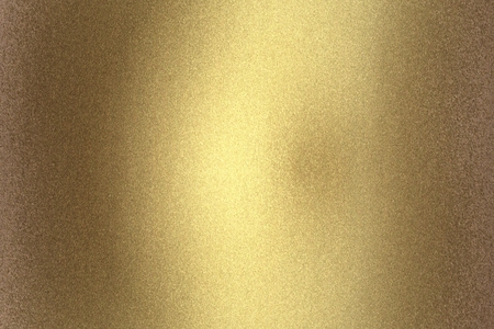 Arañazos de pared de metal dorado antiguo, textura de fondo abstracto Foto de archivo