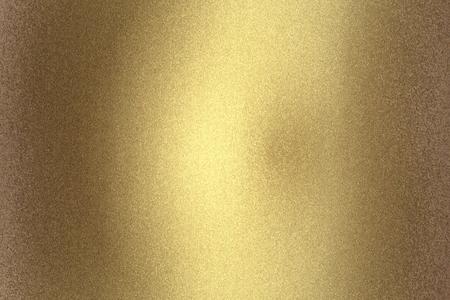 Krassen oude gouden metalen muur, abstracte textuur achtergrond Stockfoto