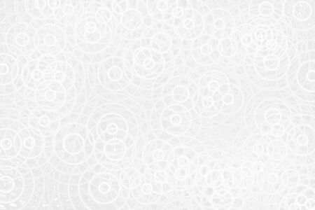 White circle sound waves oscillating on gray backdrop, abstract soft background