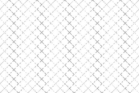 Abstract pattern black grating with dotted lines on white backdrop vector illustration