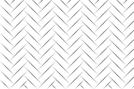 Abstract black herringbone line art on white backdrop vector illustration