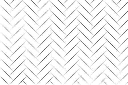 Dessin au trait abstrait noir à chevrons sur illustration vectorielle fond blanc