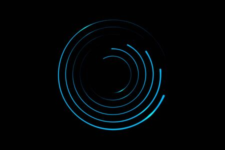 Light blue spiral with circle ring, abstract background Фото со стока