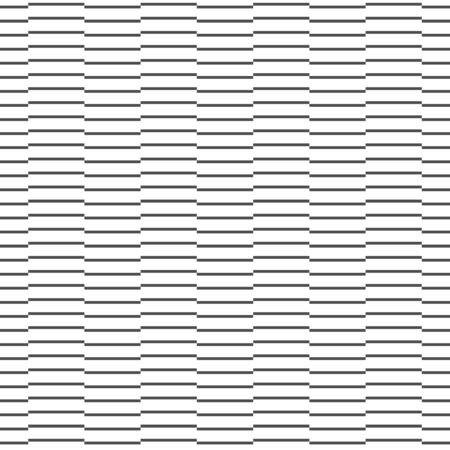 Abstract seamless pattern of black and white horizontal line overlap. Modern stylish. Design geometric texture for print, vector illustration