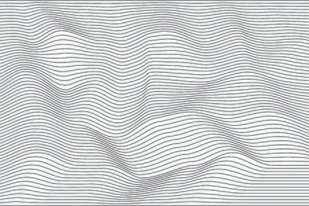 Abstract pattern black wave lines on white background. Modern stylish. Design linear texture for print, vector illustration Ilustração