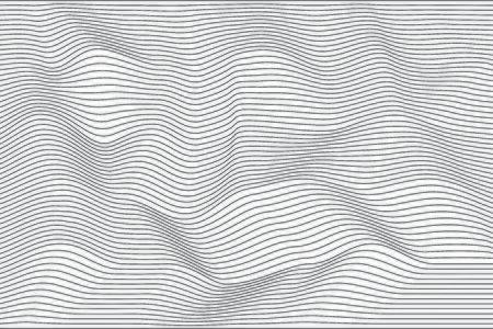 Lignes de vague de modèle abstrait noir sur fond blanc. Moderne et élégant. Conception de texture linéaire pour l'impression, illustration vectorielle