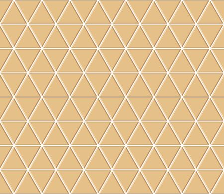 Abstract seamless triangle pattern. Light orange ceramic floor tiles. Design geometric mosaic texture for the decoration of the kitchen room, vector illustration