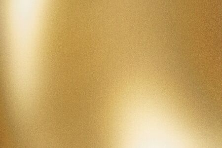 Texture of gold metallic polished glossy with copy space, abstract background Archivio Fotografico
