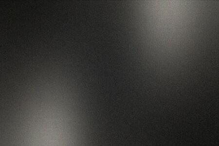 Zwart geborsteld metalen wand, abstracte textuur achtergrond Stockfoto