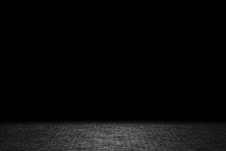 Light shining down on gray carpet floor in dark room with copy space, abstract background Stok Fotoğraf