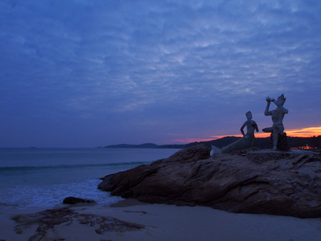 koh samet: Sunset in Koh Samet, Thailand Stock Photo