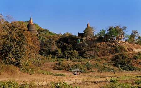 3d temple: Ancient temple in Mrauk U, Burma