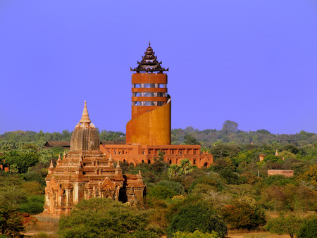 3d temple: Temple in Bagan, Burma Stock Photo