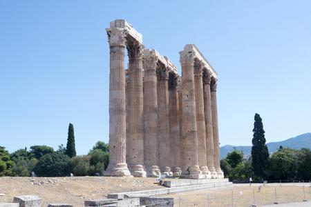ATHENS GREEK TEMPLE OF ZEUS Éditoriale