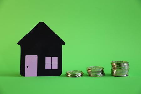 morgage: Morgage savings real estate green background