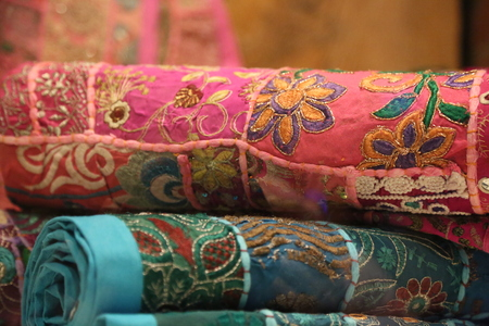 oriental rug: Colorful rugs pile flowers background