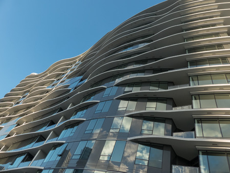 morgage: Low angle shot modern architecture new building Vancouver Canada