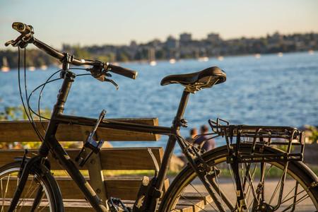 Close up beach travel bike day background