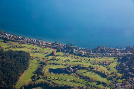 Golf fields 빅토리아 밴쿠버 섬 브리티시 컬럼비아 캐나다 스톡 콘텐츠