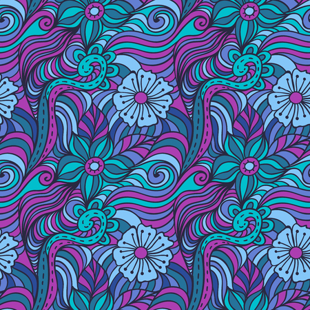 abstract flowers: vector floral pattern, abstract flowers