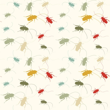 revolting: funny cockroaches pattern