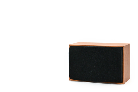 Speakers for listening to sound on a white background