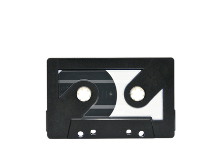 Compact audio cassette for use on audio tape recorders, music players and tape decks.Retro. Stock Photo