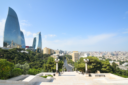09 september 2018.Baku,Azerbaijan.Baku is the capital of the Republic of Azerbaijan, the largest industrial, economic and scientific and technical center of Transcaucasia, as well as the largest port on the Caspian Sea and the largest city in the Caucasus
