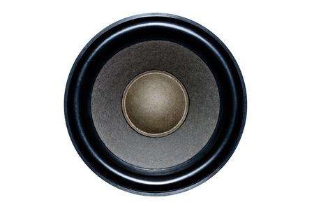 Grand haut-parleur des haut-parleurs sur un fond isolé pour le travail de conception