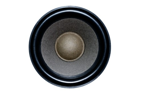 Large speaker from speakers on an isolated background for design work Stock Photo