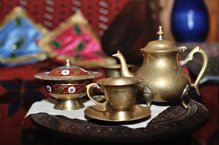 Antique copper tea ware from Azerbaijan,Baku