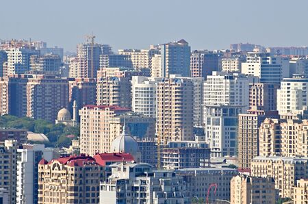 The capital of modern Azerbaijan, located on the shores of the Caspian Sea, the city of Baku Stock fotó