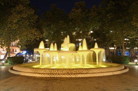 Fountains in the park of Baku city Azerbaijan