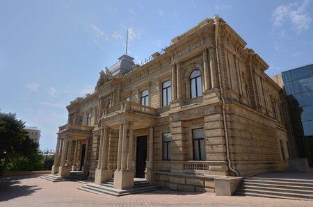 Building with gothic decoration in the museum park of Baku.Azerbaijan Stok Fotoğraf