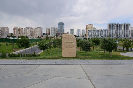 22-05-2019.Baku.Azerbaijan.New park in the center of Baku, a favorite place for citizens Stockfoto