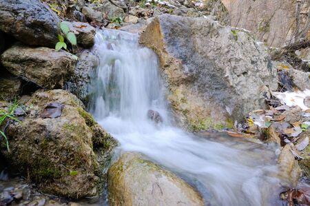 Mountain brook in the forest.Azerbaijan,Caucasus Banco de Imagens