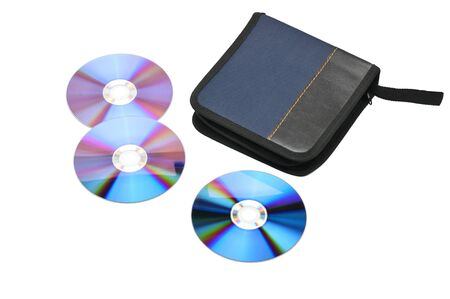 Case for CDs and DVDs on an isolated white background