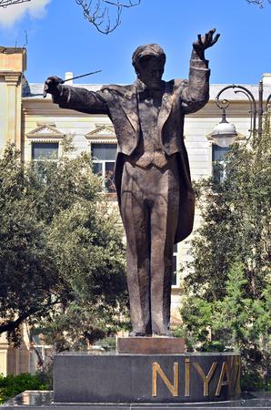 02-05-2019.Baku.Azerbaijan. Monument of Azerbaijani composer and conductor Niyazi Tagizade-Hajibekov Editoriali