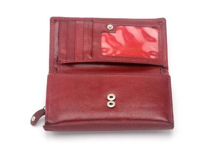 Purse on an isolated white background.Porte-monnaie