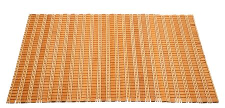 Bamboo mat on an isolated white background