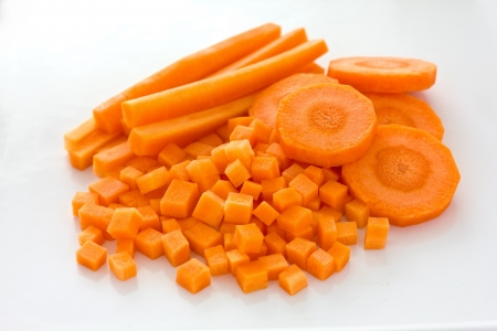 Carrots sliced and diced  photo