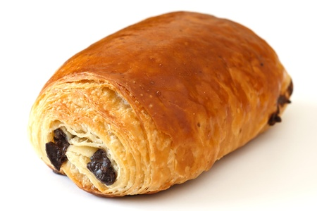 Chocolate croissant photo