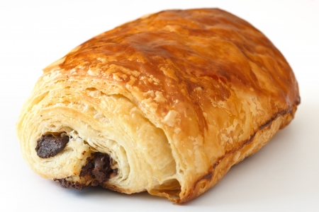 Chocolate croissant photo