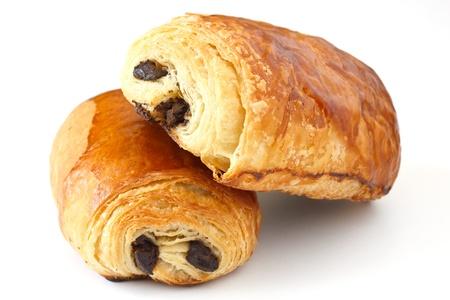 Schokoladen-Croissant Standard-Bild