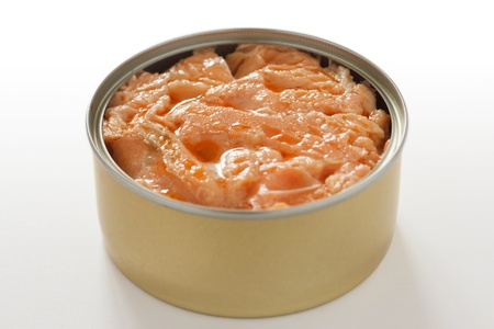 Tin of salmon photo