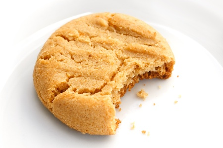 Home made peanut butter cookie bitten Standard-Bild