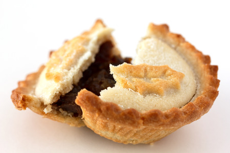 mince pie: Mince pie on white