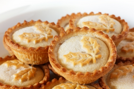 Mince pies on a plate photo