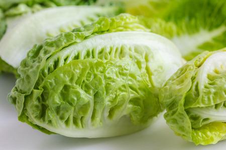 Little gem lettuce on white. photo